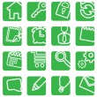 Royalty-Free Stock Vector Image: Set of simple icons for decoration.