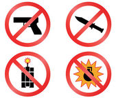 Prohibiting signs vector format. — Stock Vector