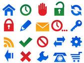 Set icone per sito web. — Vettoriale Stock