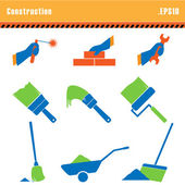 Set of icons construction a vector. — Stock Vector