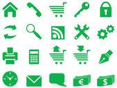 Zestaw prostych ikon do dekoracji i projektowania. — Wektor stockowy