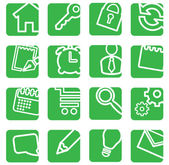 Set of simple icons for decoration. — Stock Vector