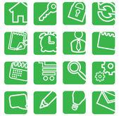 Conjunto de iconos simples para la decoración. — Vector de stock
