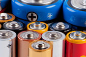 Accumulators and batteries close up. — Stock Photo