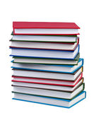 Stack books on white background isolated. — Stock Photo