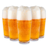 Beer in glasses. — Stock Photo