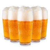 Beer in glasses. — Stock Photo