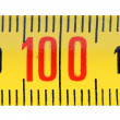 Ruler isolate on white background close-up. — Stockfoto