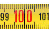 Ruler isolate on white background close-up. — Stock Photo