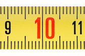 Ruler number ten close up. — Stock Photo