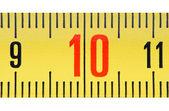 Ruler number ten close up. — Stock Photo