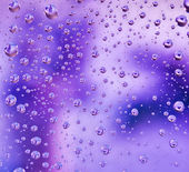 Abstract translucent water drops background, macro view — Stock Photo