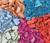 Conjunto de sombra rota multicolor, macro de fondo — Foto de Stock