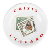 Economy crisis of USA dollar currency concept photo with default — Stock Photo