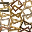 Set of gold picture frames — Stock Photo #6426673