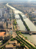 Kind to Paris from Tour d'Eiffel height — Photo