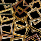 Set of gold picture frames — Stockfoto