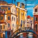 The bridge from ancient Venice — Stock Photo