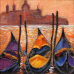 Gondolas in Venice — Stock Photo #6472979