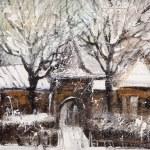 Old street in Vitebsk in the winter — Stock Photo