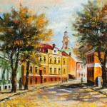 Ancient Vitebsk in the autumn — Stock Photo