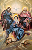 Sacred Trinity and the Mother of god — Stock Photo