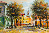Ancient Vitebsk in the autumn — Stock Photo