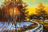 Rural winterlandschap — Stockfoto