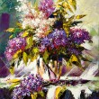 Lilac bouquet in a vase — Stock Photo