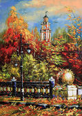 Starożytne Witebsk jesienią — Zdjęcie stockowe
