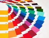 Set of samples of various colours — Stock Photo