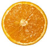 The cut off orange, isolated on white — Stock Photo