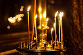 Church candle light — Stock Photo