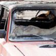 Fire burnt car vehicle - Stock Photo