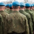 Military uniform soldier row — Stock Photo