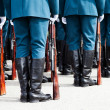 Military uniform soldier row - Stockfoto