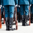 Military uniform soldier row - Stock Photo