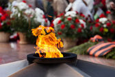 The Eternal Flame memorial — Stock Photo