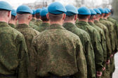 Military uniform soldier row — Foto Stock
