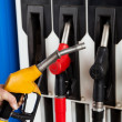 Gasoline station fuel pumps — Stock Photo