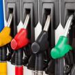 Gasoline station fuel pumps — Stock Photo