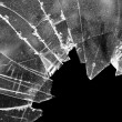 Broken window glass - Stock Photo