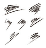Eye liner or cosmetic pencil strokes — Stock Photo