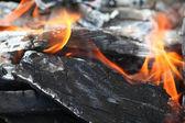 Burning wood — Stock Photo
