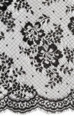 Black floral ornament Lace — Stock Photo