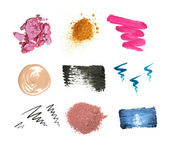 Decorative cosmetic samples — Stock Photo