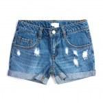 pantalones de verano mezclilla dlue — Foto de Stock