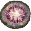 Amethyst stone structure - Stock Photo