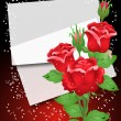 Roses and paper - Stock Vector