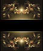 Achtergrond met gouden ornament — Stockvector